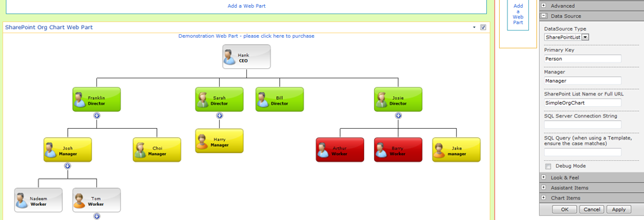 ASP.NET Organisation Chart Component - Create Flexible, Versatile ...
